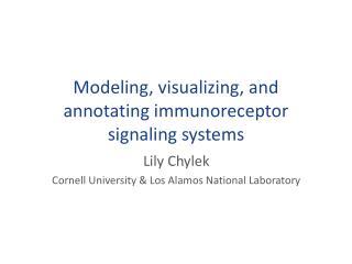 Modeling, visualizing, and annotating immunoreceptor signaling systems
