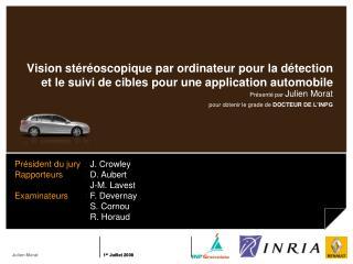 Présenté par  Julien Morat pour  obtenir le  grade de  DOCTEUR  DE L'INPG