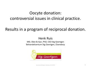 Oocyte donation:  controversial  issues in clinical practice.