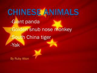 Chinese Animals