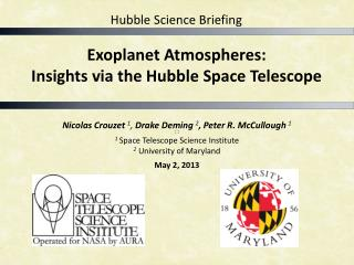 Exoplanet Atmospheres:  Insights  via the Hubble Space Telescope