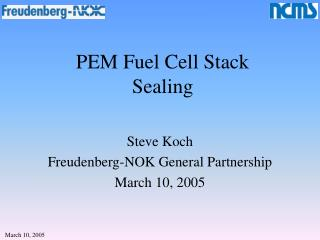 PEM Fuel Cell Stack Sealing