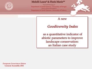 A new Geodiversity Index