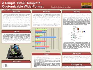 A Simple  40x30 Template :  Customizable Wide-Format Poster