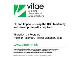 Vitae vision and aims