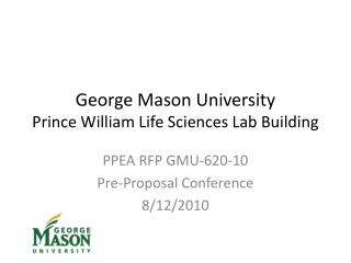 George Mason University Prince William Life Sciences Lab Building