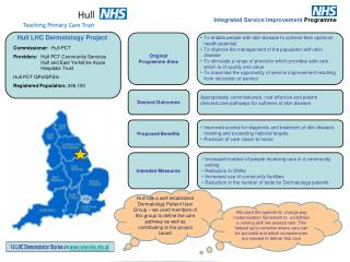 Commissioner:   Hull PCT Providers:  	 Hull PCT Community Services	        Hull and East Yorkshire Acute Hospitals Trust
