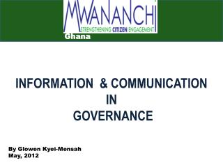 INFORMATION  & COMMUNICATION  IN  GOVERNANCE