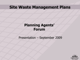 Site Waste Management Plans Regulations 2008