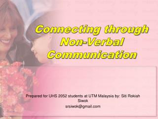 Connecting through Non-Verbal Communication