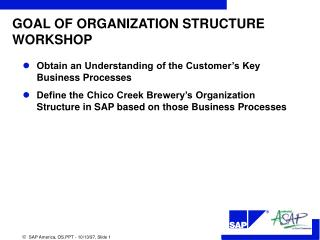 GOAL OF ORGANIZATION STRUCTURE WORKSHOP