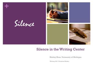 Silence in the Writing Center