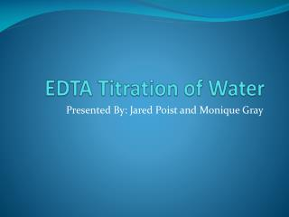 EDTA Titration of Water