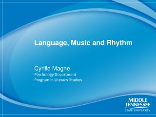 Language, Music and Rhythm