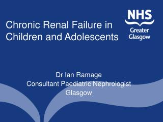 Chronic Renal Failure in Children and Adolescents