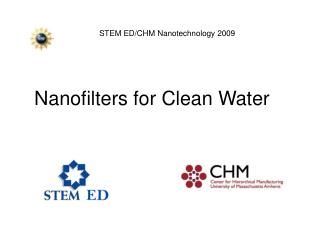 Nanofilters for Clean Water