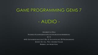 Game  Programming Gems  7 - Audio -