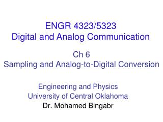 Ch  6 Sampling and Analog-to-Digital Conversion