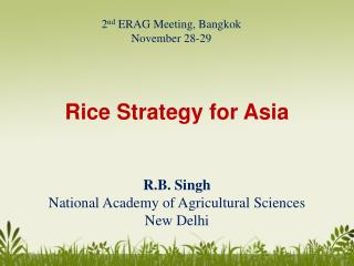 Rice Strategy for Asia