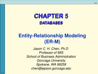 CHAPTER 5  DATABASES