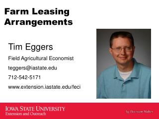 Farm Leasing Arrangements