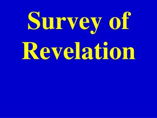 Survey of  Revelation