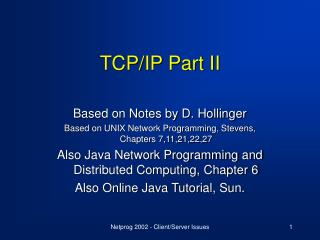 TCP/IP Part II