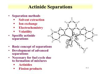 Actinide Separations