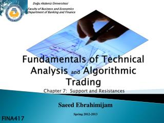 Fundamentals  of Technical Analysis  and  Algorithmic Trading  Chapter 7:  Support and Resistances