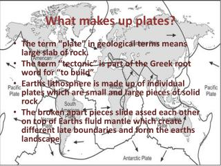 What makes up plates?
