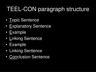 TEEL-CON paragraph structure