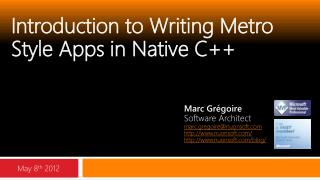 Introduction to Writing Metro Style Apps in Native C ++