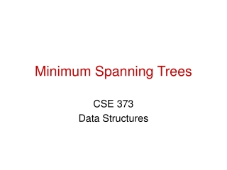 Minimum-Spanning Trees