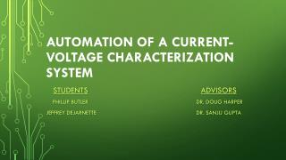 Automation of a Current-Voltage Characterization System
