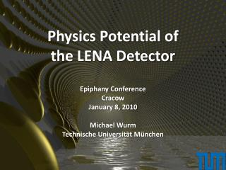 Physics Potential of the LENA Detector
