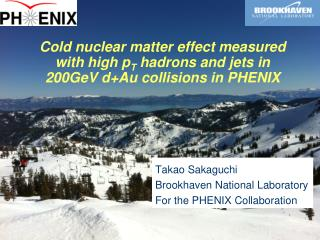Takao  Sakaguchi Brookhaven National Laboratory For the PHENIX Collaboration
