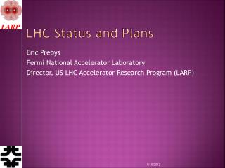 LHC Status and Plans