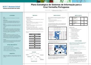Plano  Estratégico  de  Sistemas  de  Informação para  a  Cruz  Vermelha  Portuguesa