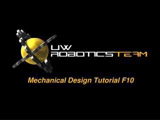 Mech anical Design Tutorial F10