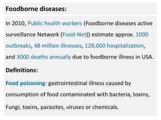 Foodborne diseases: