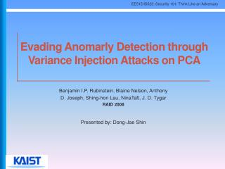 Evading Anomarly Detection through Variance Injection Attacks on PCA