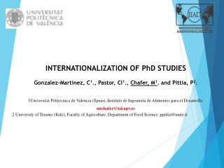 INTERNATIONALIZATION OF PhD STUDIES