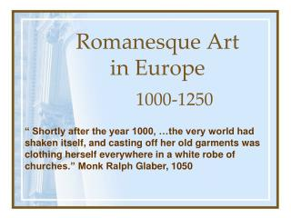 Romanesque Art in Europe