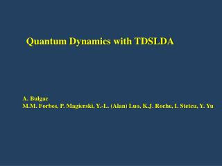 Quantum Dynamics with TDSLDA