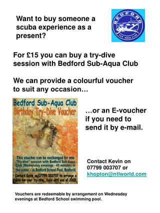 Want to buy someone a scuba experience as a present?