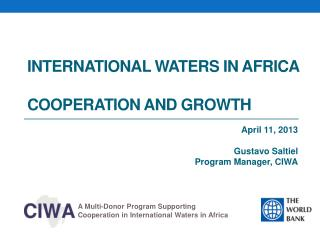 international  Waters in  africa COOPERATION  AND  growth