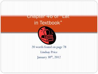 "Chapter 46 of ""Lat in Textbook"""
