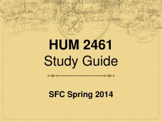 HUM 2461 Study Guide