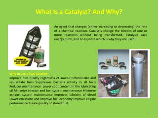 What Is a Catalyst? And Why?