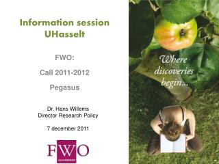 Information session UHasselt